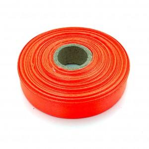 Атласная лента Оранжевый-Неон 12 мм