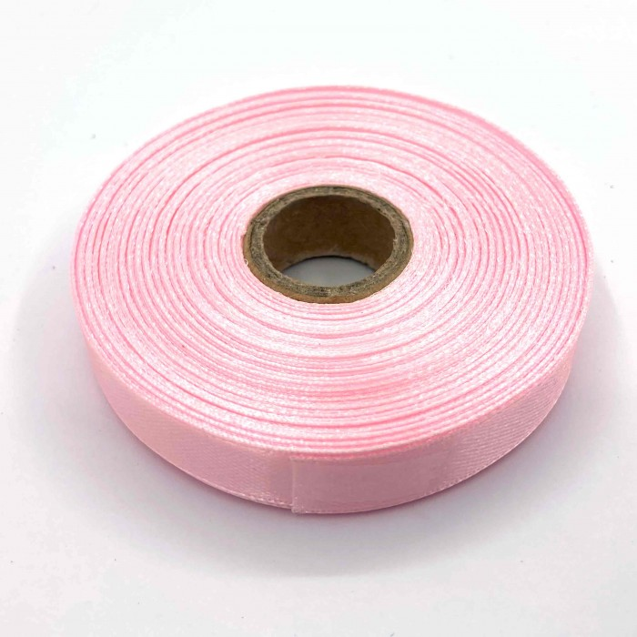 Атласная лента Розовый-Перламутр 12 мм