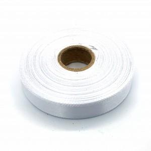 Атласная лента Белый 12 мм