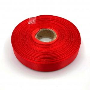 Атласная лента Красный 12 мм
