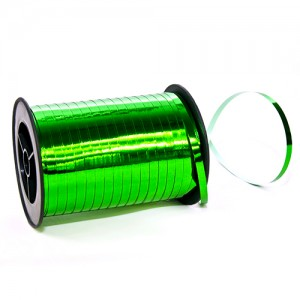 Лента Зелёный металлик (0,5 см х 250 ярдов)