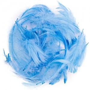Перья для декора Голубой (12 г.)