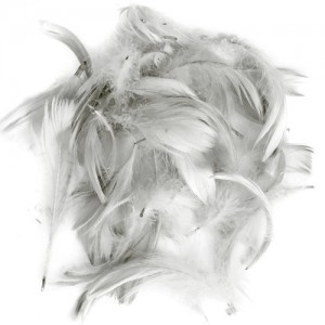 Перья для декора Серый (12 г.)