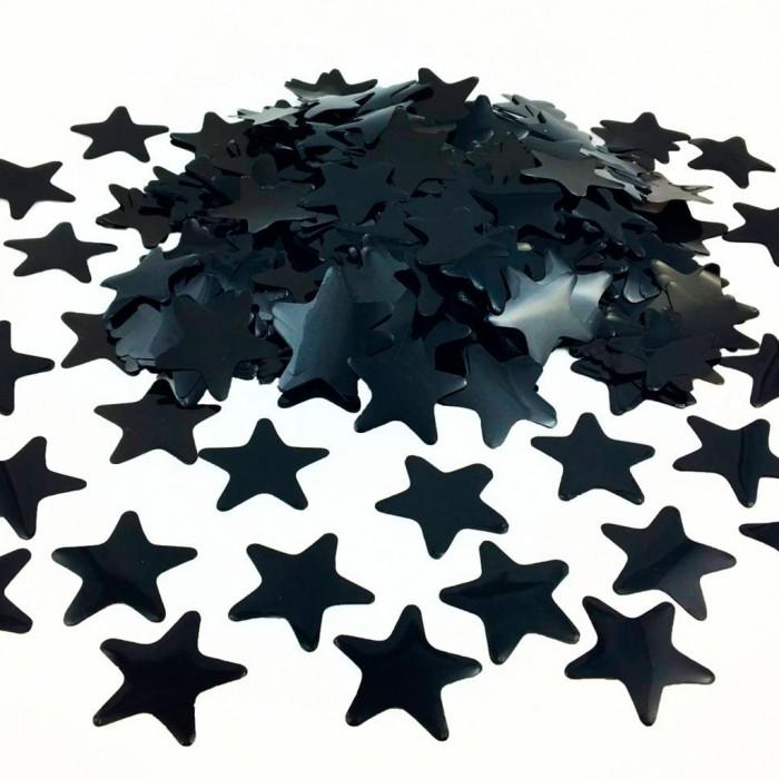 Конфетти 35х35 мм звёздочки Чёрный 500 г