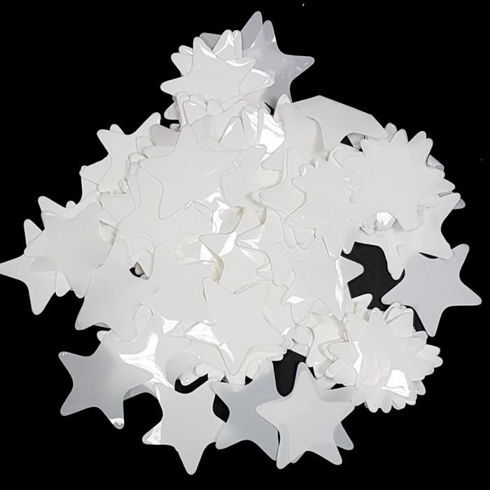 Конфетти 35х35 мм звёздочки Белый 50 г