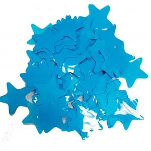 Конфетти 35х35 мм звёздочки Голубой 100 г