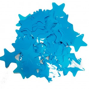Конфетти 35х35 мм звёздочки Голубой 50 г