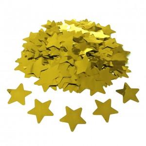 Конфетти 35х35 мм звёздочки Золото 50 г