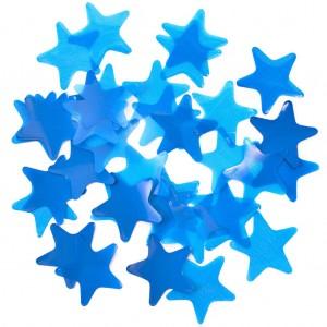 Конфетти 35х35 мм звёздочки Синий 100 г