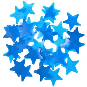 Конфетти 35х35 мм звёздочки Синий 50 г