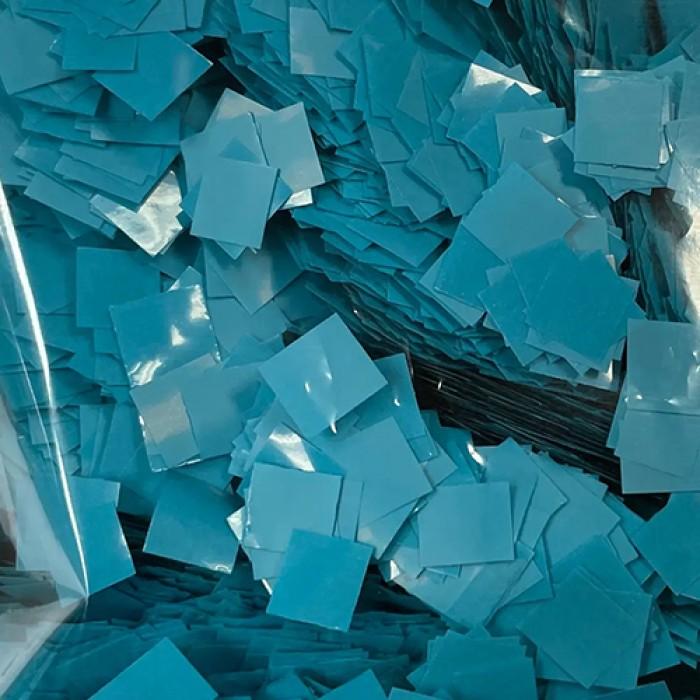 Конфетти 5х5 мм квадратики Аквамарин 100 г