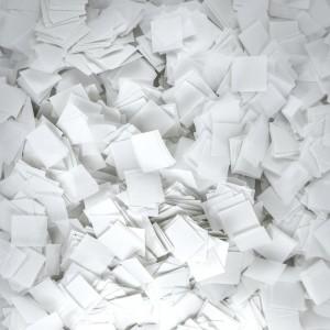 Конфетти 5х5 мм квадратики Белый 500 г