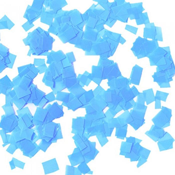 Конфетти 8х8 мм квадратики Голубой 50 г