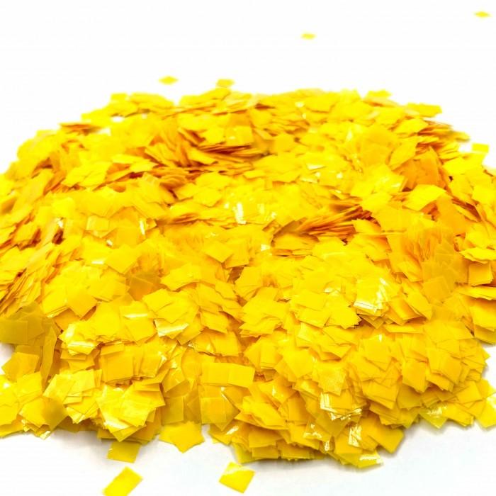 Конфетти 8х8 мм квадратики Жёлтый 50 г