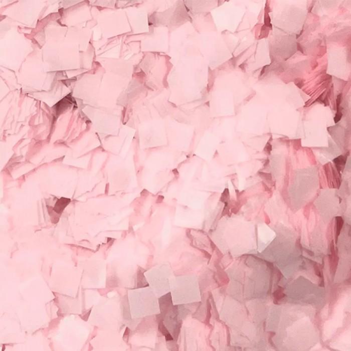 Конфетти 5х5 мм квадратики Светло-розовый 50 г