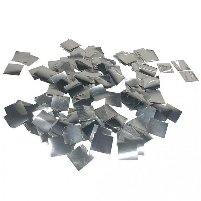 Конфетти 5х5 мм квадратики Серебро 100 г