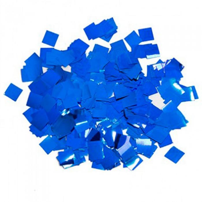 Конфетти 5х5 мм квадратики Синий 100 г
