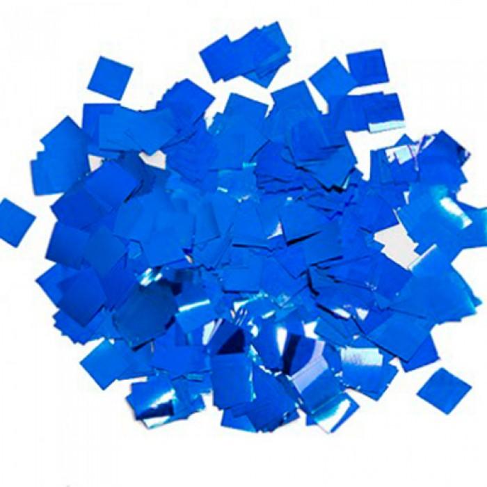Конфетти 8х8 мм квадратики Синий 100 г