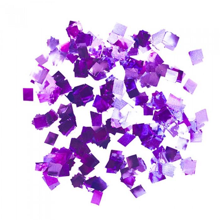 Конфетти 8х8 мм квадратики Фиолетовый металлик 50 г