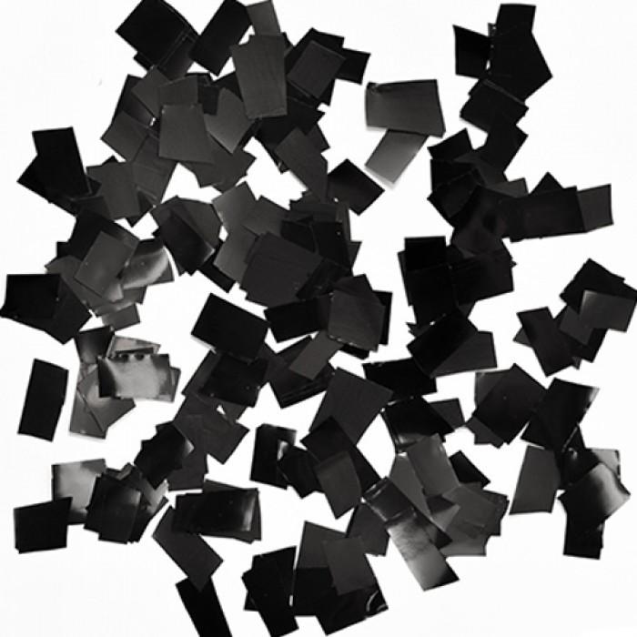 Конфетти 8х8 мм квадратики Чёрный 100 г