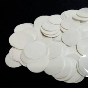 Конфетти 12 мм кружочки Белый 500 г