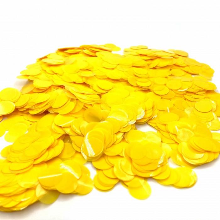 Конфетти 23 мм кружочки Жёлтый 500 г