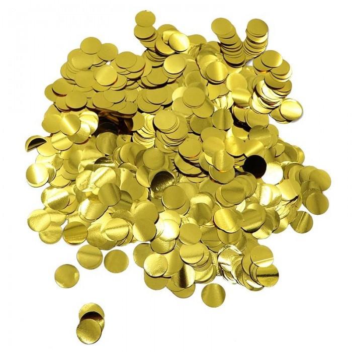 Конфетти 12 мм кружочки Золото 500 г