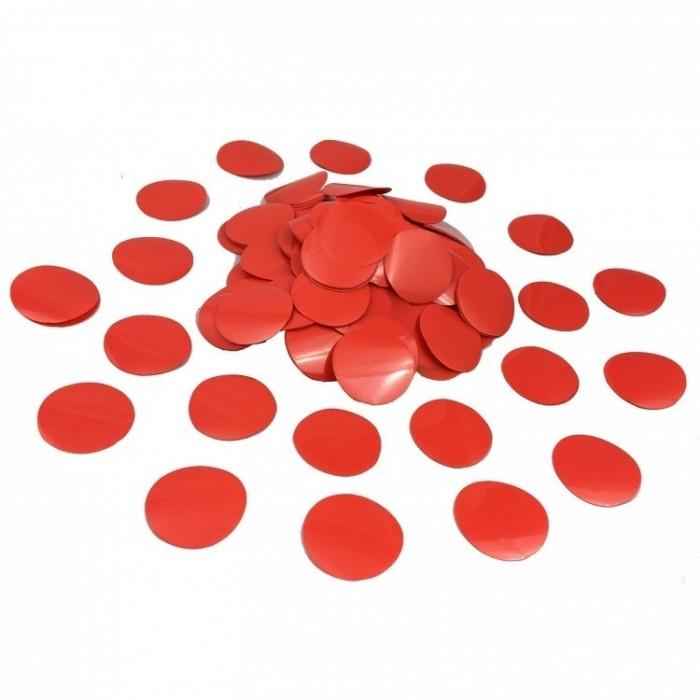 Конфетти 23 мм кружочки Красный 100 г