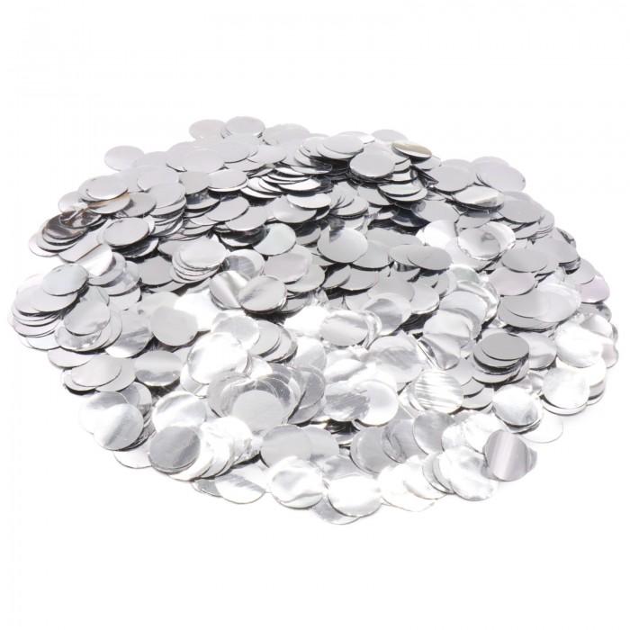 Конфетти 12 мм кружочки Серебро 50 г