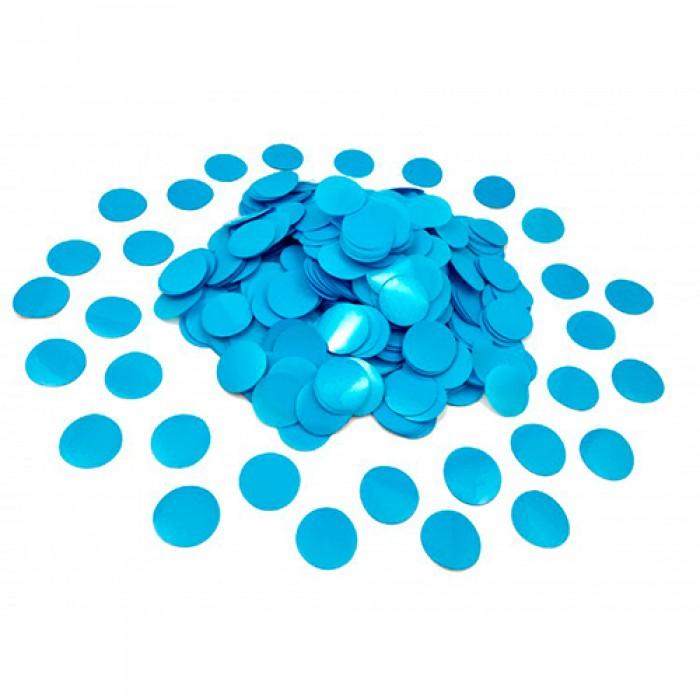 Конфетти 12 мм кружочки Голубой 100 г