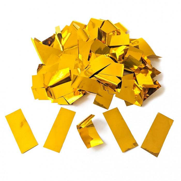 Конфетти 15х40 мм толстые полоски Золото 100 г