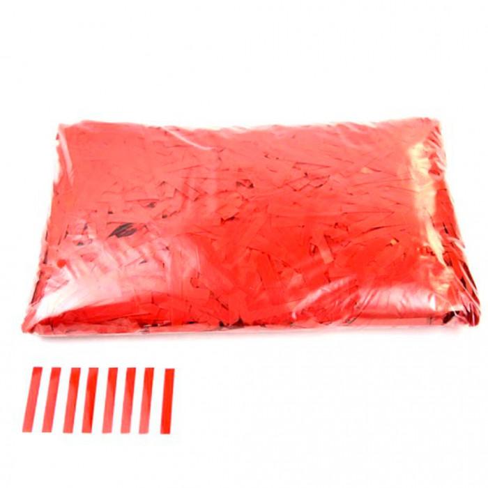 Конфетти 5х40 мм тонкие полоски Красный 500 г