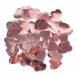 Конфетти 25х25 мм сердечки Rose Gold 100 г