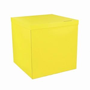 Коробка для шаров жёлтая 70х70х70 (1шт.)