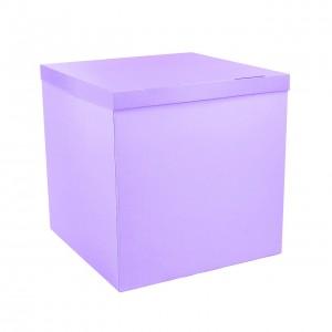 Коробка для шаров сиреневая 70х70х70 (1шт.)