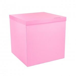 Коробка для шаров розовая 70х70х70 (1шт.)