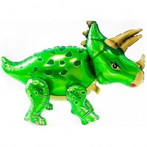 Стоячий шар фигура Трицератопс Зелёный (Китай)