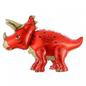 Стоячий шар фигура Трицератопс Красный (Китай)