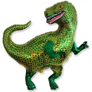 Фольгированный шар фигура Динозавр Зеленый (Flexmetal)
