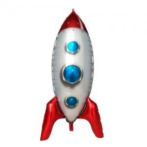 Фольгированный шар фигура 3D Ракета (Китай)
