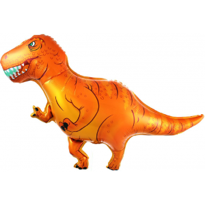 Фольгированный шар фигура Динозавр Оранжевый (Китай)
