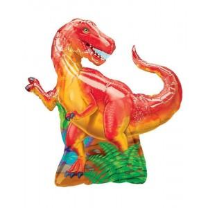 Фольгированный шар фигура Динозавр Красный (Китай)