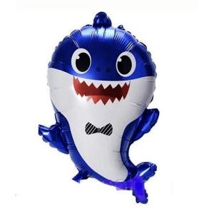Фольгированный шар фигура Baby Shark Акулёнок Синий (Китай)