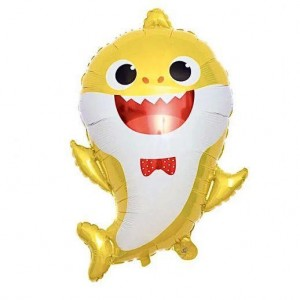 Фольгированный шар фигура Baby Shark Акулёнок Желтый (Китай)