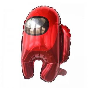 Фольгированный шар фигура Among Us Амонг Ас Красный (Китай)
