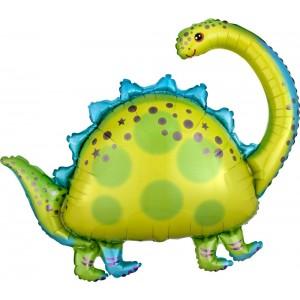 Фольгированный шар фигура Динозавр травоядный Зелёный (Китай)