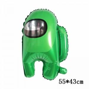 Фольгированный шар фигура Among Us Амонг Ас Зелёный (Китай)