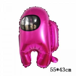 Фольгированный шар фигура Among Us Амонг Ас Розовый (Китай)