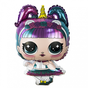 Фольгированный шар фигура Кукла LOL Единорог (Китай)