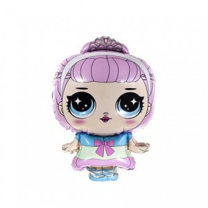 Фольгированный шар фигура Кукла LOL с короной (Китай)